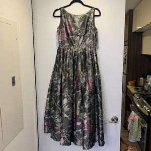 Adrianna Papell fit and flare floral print dress